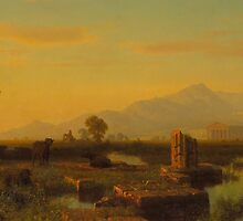 Ruins of Paestum, 1858  by Bridgeman Art Library