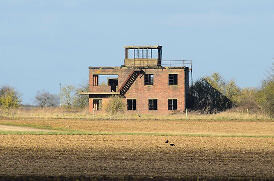 The Old Tower at RAF Coleby Grange (WWII Canadian airfield) by Mark Baldwyn