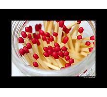 Household Safety Matches In A Glass Jar  Photographic Print