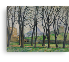 Chestnut Trees at Jas de Bouffan, c.1885-86  Canvas Print