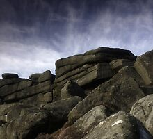 Stanage Edge Rocks by Angie Morton
