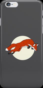 Night Fox Flies over the Moon by wearenightfox