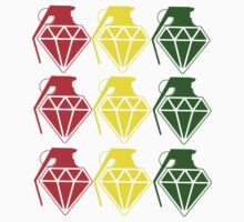 "GRENADE DIAMONDS ""RASTA"" by ElectricNeff"