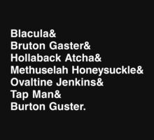 The Many Names of Burton Gustor by flyingpantaloon