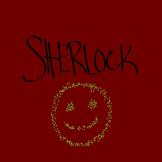 Sherlock Smiley Face by Malia Lukomski