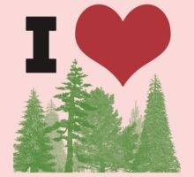 I Heart Pine Trees / Forest / Nature Kids Clothes
