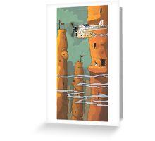 Mud Towers Greeting Card