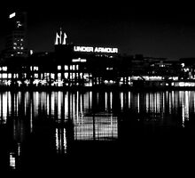 Under Armour at Night B&W by BeachBumPics