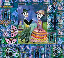 Catrin and Catrina Wedding Day Collage by dayofthedeadart