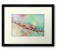 Rainbow Smoke Drops Framed Print