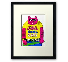 Cool Cats - Yellow / Justice Cat Framed Print