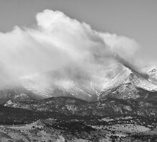 Colorado Twin Peaks Winter Weather View BW by Bo Insogna
