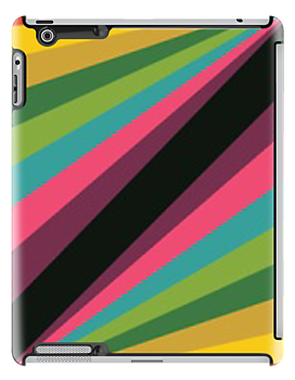 Rainbow lines- ipad case by ksully
