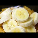 Time For Breakfast - Sliced Bananas & Kellogg's Corn Flakes  by © Sophie Smith