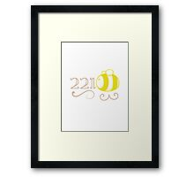 221Bee Framed Print