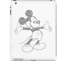 Mickey Mouse Black and White iPad Case/Skin