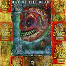 Red Sugar Skull-  Pop Art - DAY OF THE DEAD by dayofthedeadart