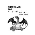 B&W Charizard iPhone / iPod Case by Aaron Campbell