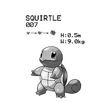 B&W Squirtle iPhone / iPod Case by Aaron Campbell