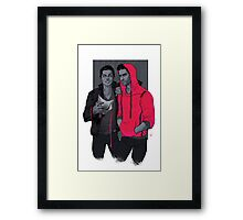 Little Red Has Pointy Teeth Framed Print