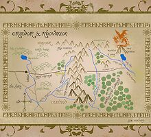 Hobbit map of middle earth. by sue mochrie