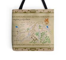 Hobbit map of middle earth. Tote Bag
