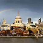 Rainbow over St Paul's by Gary Eason + Flight Artworks