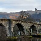 Stirling Bridge And Wallace Monument, Scotland by Jim Wilson