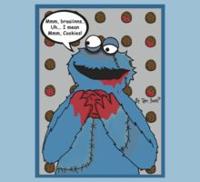 Zombie Brain Lovin Cookie Monster by Ravenous-Decay