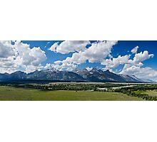 The Grand Tetons Panorama - Grand Teton National Park, Wyoming Photographic Print