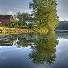 Farm at Lake Lillanonah by Clarkartusa
