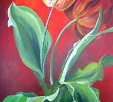 Red and Yellow Tulips by taiche