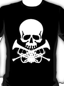 Skull with Trumpet Crossbones T-Shirt