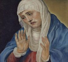 Mother of Sorrows, after Titian by Pam Humbargar