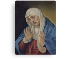 Mother of Sorrows, after Titian Canvas Print