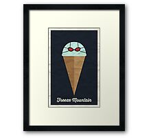 Freeze Mountain Framed Print