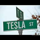 Nikola Tesla Street Sign - Shoreham, New York by © Sophie W. Smith