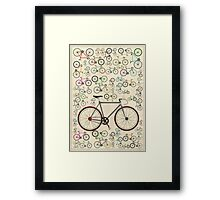 Love Fixie Road Bike Framed Print