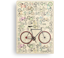 Love Fixie Road Bike Metal Print