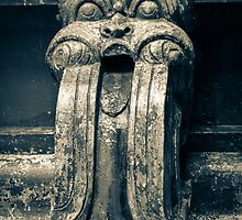 Drainage ornament on Hindu Seetha Amman Temple in City Seetha Eliya by Inez Wijker