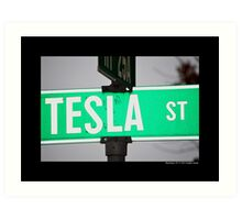 Nikola Tesla Street Sign - Shoreham, New York Art Print