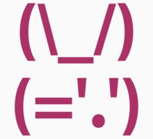 Rabbit Japanese Emoticon Kaomoji  by tinybiscuits