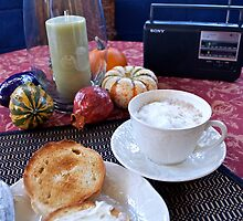 Sunday Morning Cuban Coffee & A Bagel! by Mary Ellen Garcia