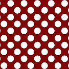 White dots on red - retro style by CatchyLittleArt