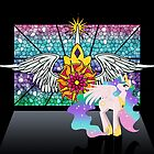 Princess Celestia Stained Glass Print by Maggie Davidson
