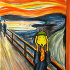 Art Giraffe- The Scream by Sundayink