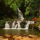 Elabana Falls with rocks by Michael Matthews