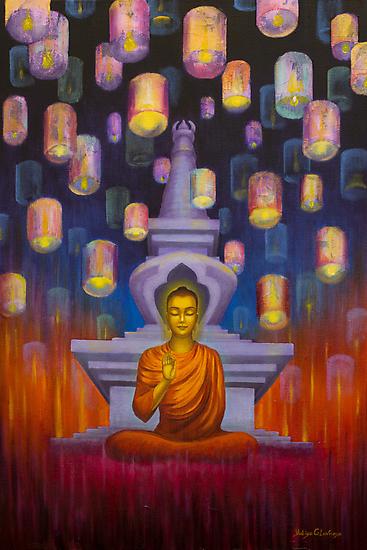 Light of Buddha by Yuliya Glavnaya