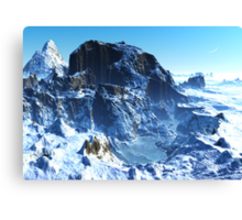 Winter in Mountain Valley Canvas Print