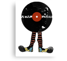 Funny Vinyl Records Lover - Grunge Vinyl Record Canvas Print